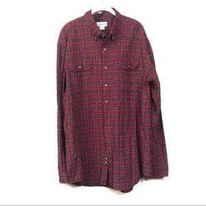 Carhartt Red plaid button down shirt 2xl tall
